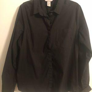 Black H&M Oxford Button down Size 14